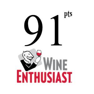 91pts Wine Enthusiast